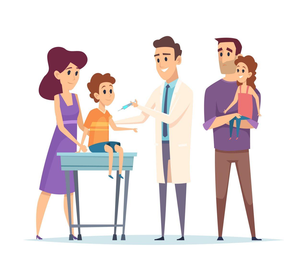 vaccination d'un enfant