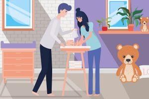 change du lange de bébé - les pathologies cutané du lange chez le nourrisson
